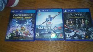 Minecraft story mode, madden 16, injustice gods among us ultimate edition