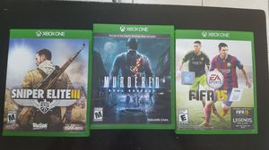 XBOX ONE / SNIPER ELITE III / MURDERED / FIFA 15