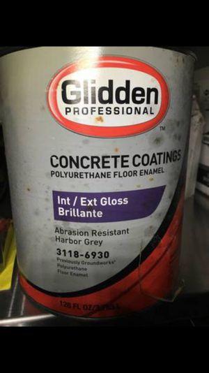 Concrete coating polyurethane floor enamel gray.