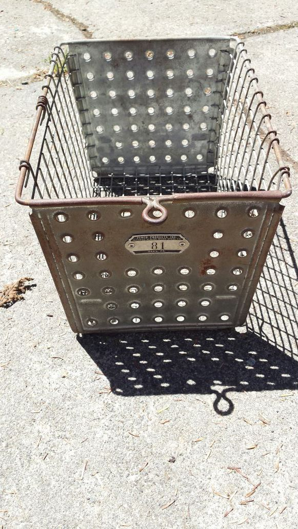 Vintage Metal Locker Basket W Household In Snohomish