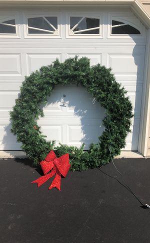 "60"" Light outdoor wreath"