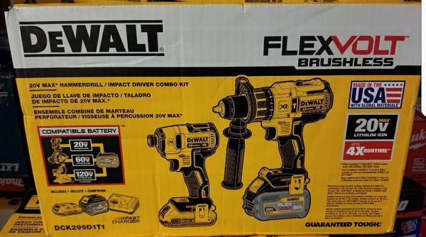 Dewalt 20v Max XR Brushless Flexvolt Hammerdrill Impact Driver