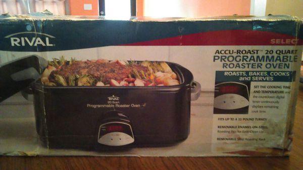 rival accu roast 20 qt programmable roaster oven manual