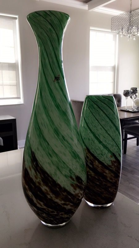 2 Decorative Green,brown and black HQT Handmade Home Designs Art ...
