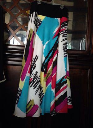 JONES NEW YORK Collection. Maxi Skirt Multi Colors, Size M