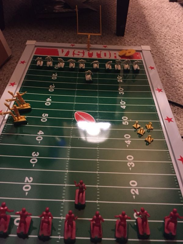 RARE Vintage ELECTRIC FOOTBALL Game With Players Fun Boardgame In Box Cool 1988