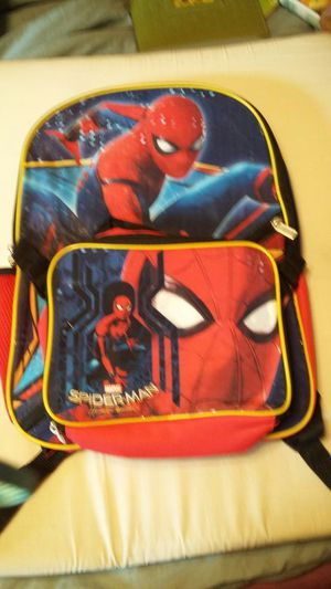 Spider-Man back pack and lunch box