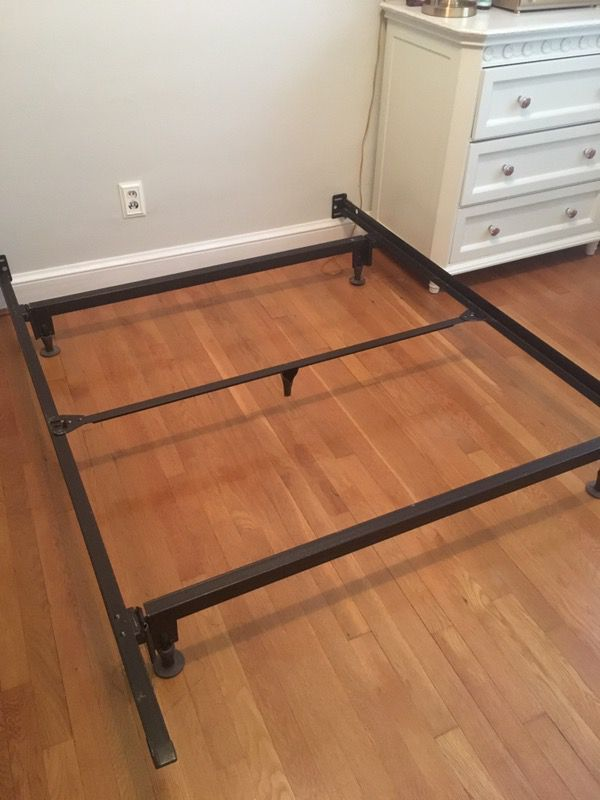 Full size bed frame and box spring