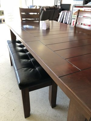 Brand New Rustic 6 pc Dining Set With leaf