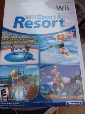 Wii Resort Wii Sports 2 Different Games only one plastic case