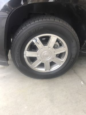 19in chrome Cadillac rims and tires good condition
