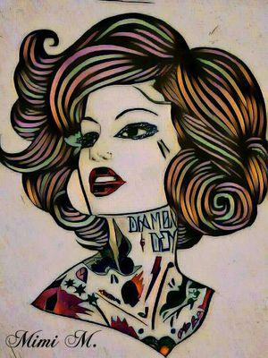 """""""Tattoo Sister #9"""" art print"""