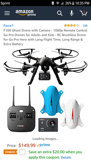F100 Ghost Drone with 1080p camera
