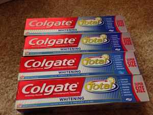 Not available ** 4 Tubes Colgate toothpaste Super Size. Please See All The Pictures