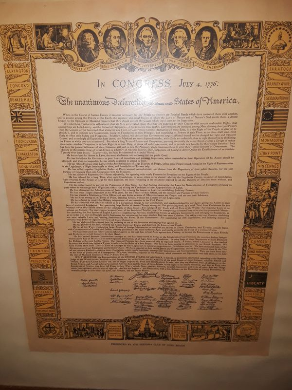 Picture frame unanimus declaration of independence (Furniture) in ...