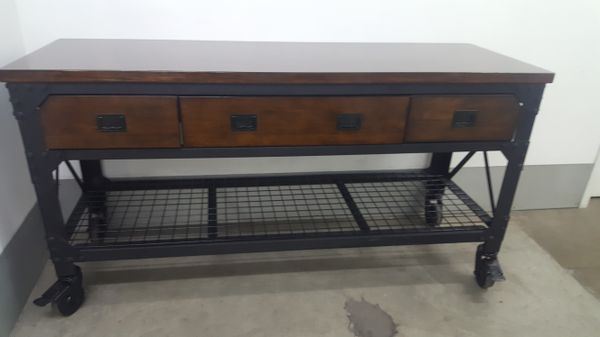 Whalen 72 Quot Metal And Wood Workbench Furniture In Downey