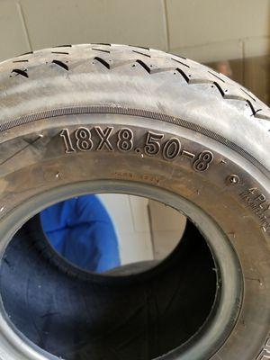 Golf cart tires (4) 18x8.50-8