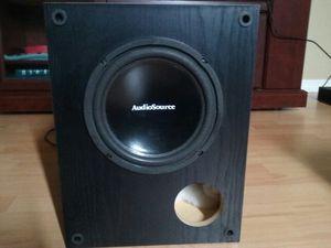 "AudioSource 10001 65-Watt Powered 8"" Subwoofer(No Grill cover)"