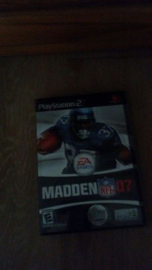 play station 2 madden 07