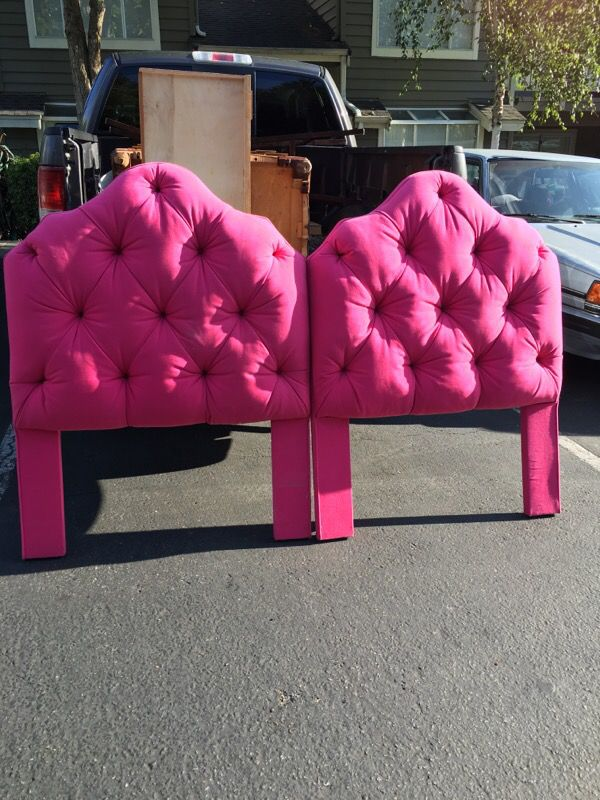 Tufted twin pink headboards furniture in federal way wa for Furniture federal way