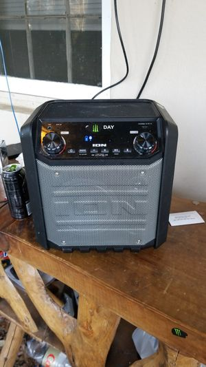 It is a Game Day Bluetooth Speaker. Including a USB port, Mic port, and an AUX port. It's also a karaoke machine and a portable charger with a radio