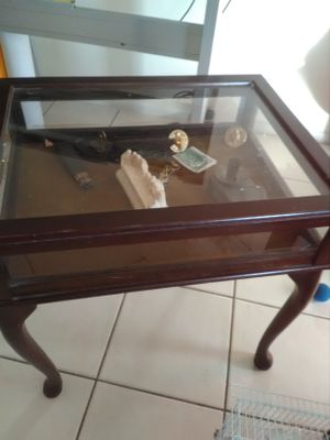 Antique Wood Table 22x17