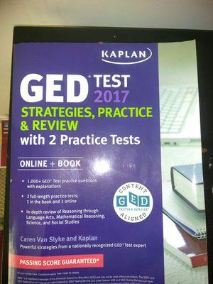 GED test study book 2017