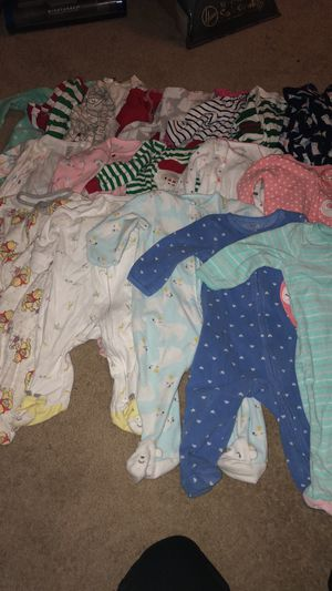 Baby girl sleepers size 6 months- best offer!