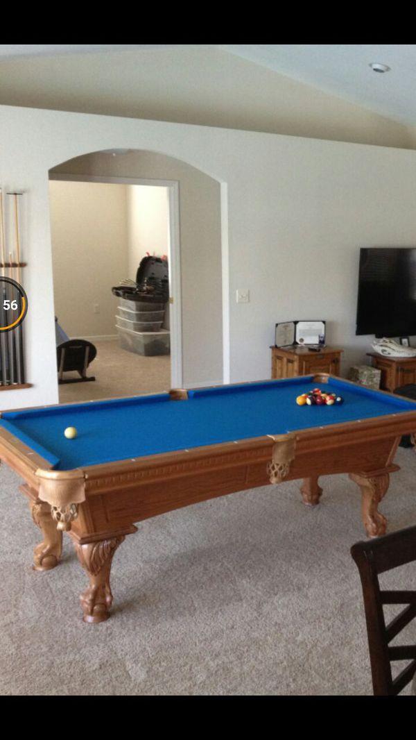 7 foot leisure bay pool table 3piece slate (furniture) in lakeland