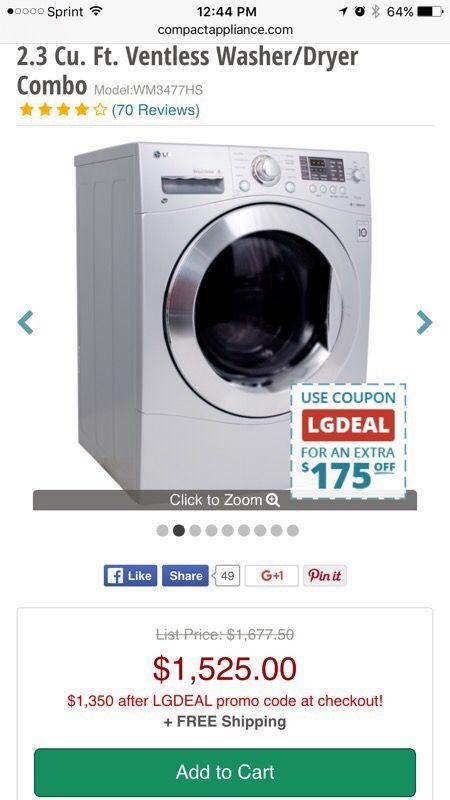 lg ventless washer dryer appliances in everett wa offerup