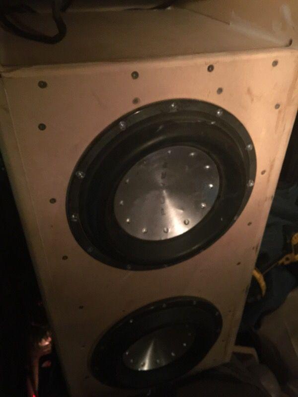 Rockford fosgate power t1 10 pair in custom made box audio rockford fosgate power t1 10 pair in custom made box sciox Gallery
