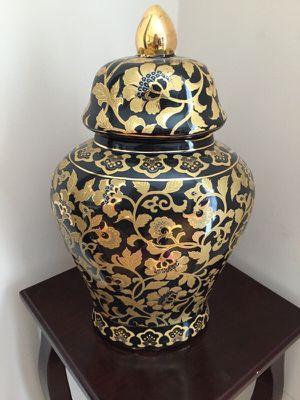 Gold and black vase/decoration