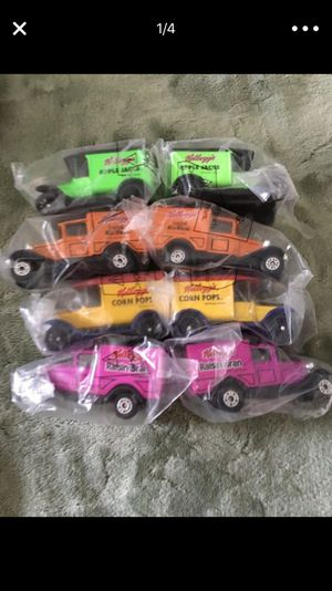 Matchbox cars. NEW. 2 sets of vintage cereal cars!!! Also one set of tractors, those are new but not in a bag. Selling the entire set $50