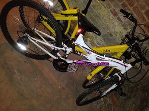 Pink mongoose mountain bike