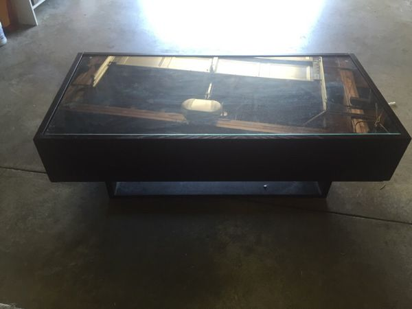 ikea coffee table with two drawers for storage ( furniture ) in
