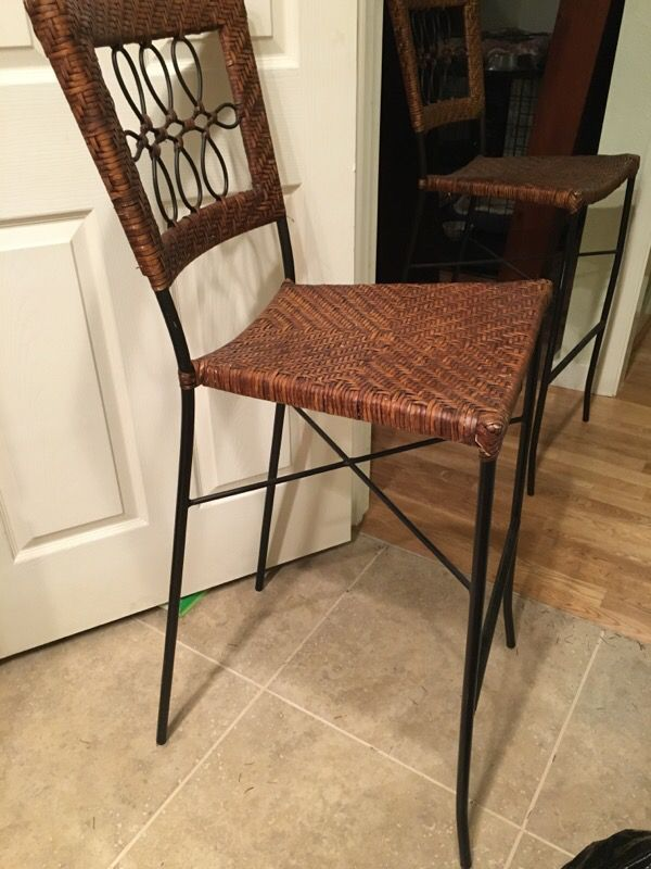 Counter Height Wicker Chairs : Wicker Bar Height Chairs (2) ( Furniture ) in Woodinville, WA ...