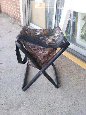 Hunting stool with storage