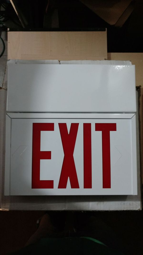 Sure Lite Self Powered Exit Sign Back To Back Furniture In Kalamazoo Mi