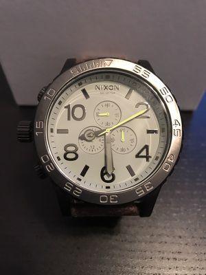Nixon Chrono 51-30 silver brown watch new