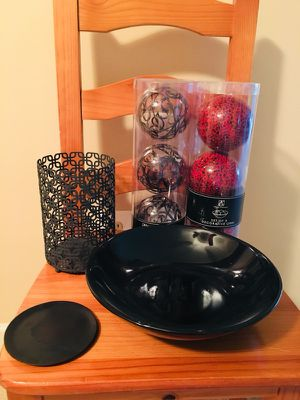 Black and Red Home Decor