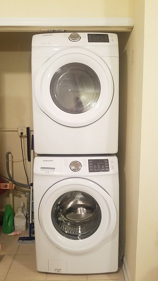 Samsung WF42H5000AW Front Load Washer DV42H5000EW Electric Dryer w