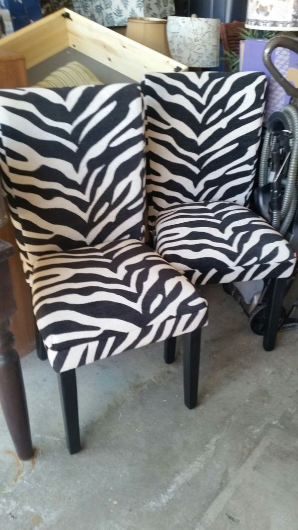 2 zebra stripped chairs furniture in henderson nv offerup for Furniture 89014