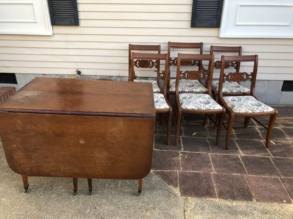Antique Drop Leaf Table With 6 Chairs Furniture In Hampton Va