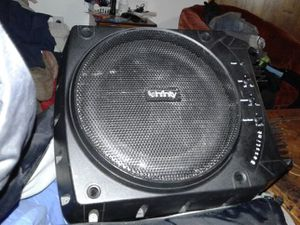 Infinity basslink 2 10 inch speakers with built in amp...amazing sound