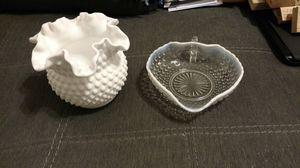 Fenton Opalescent Art Glass Dish/Vase