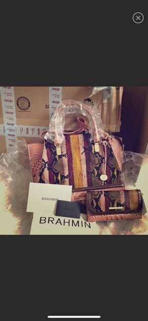BRANDNEW Authentic Brahmin satchel and wallet