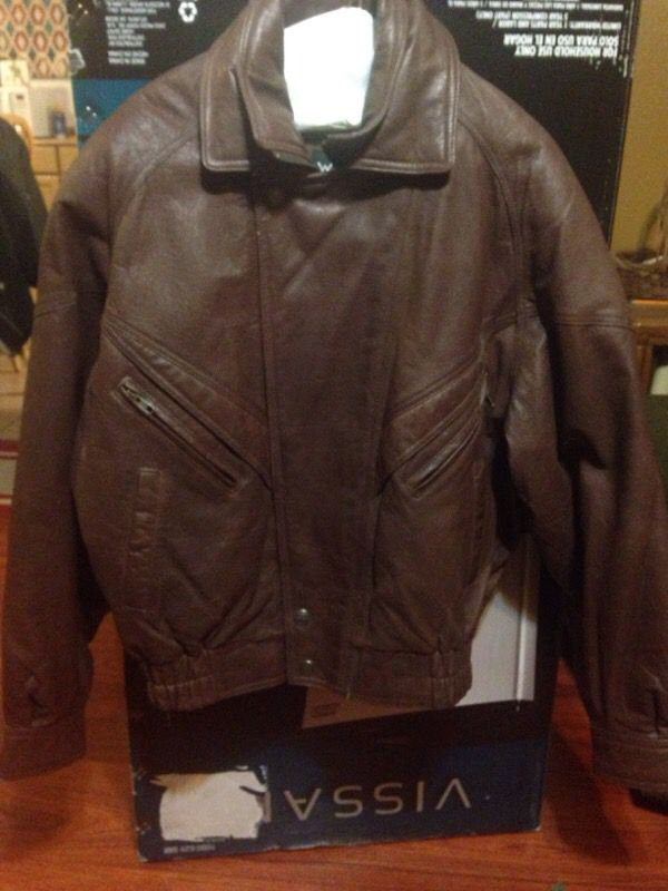 Wilson genuine leather bomber jacket ( Clothing & Shoes ) in ...