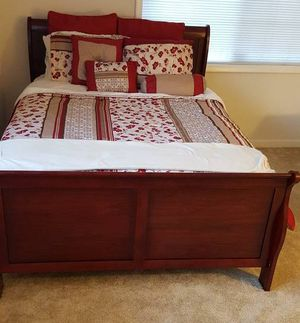 Brand New Queen Size Cherry Wood Sleigh Bed Frame ONLY