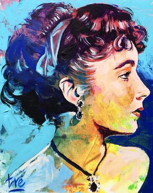 Painting of Elizabeth Taylor