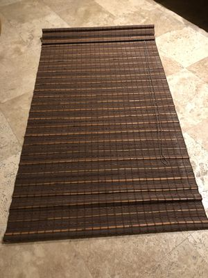 2 Natural Woven Bamboo Roman Shades Blinds with Blackout